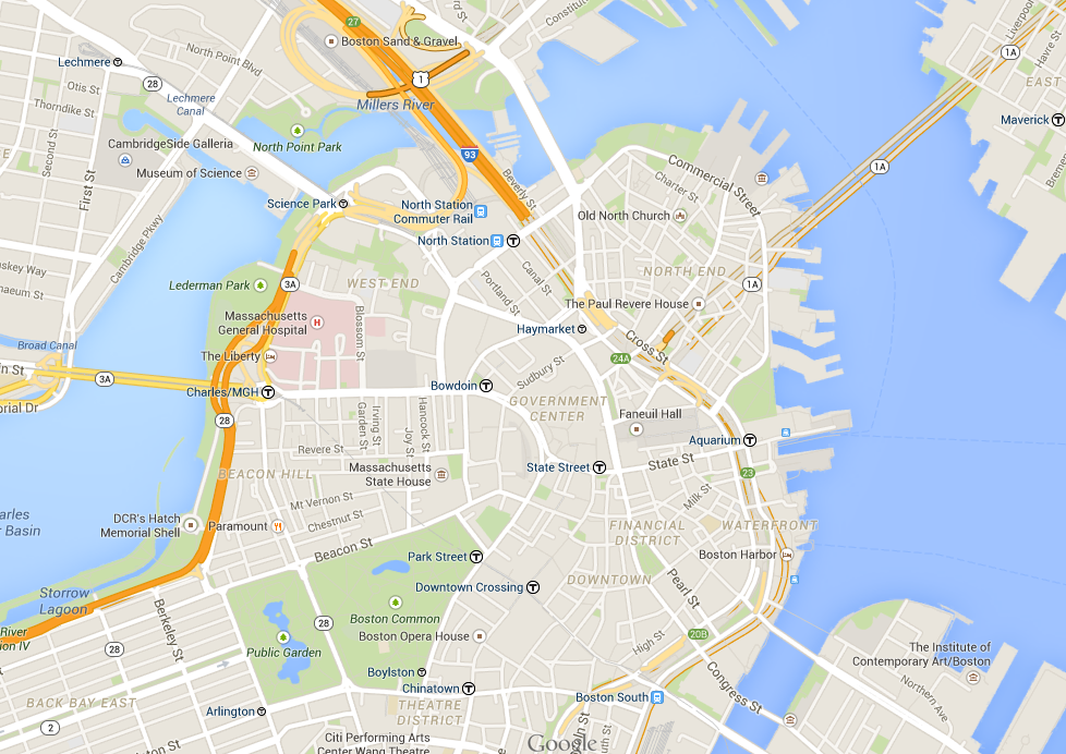 Boston Google map