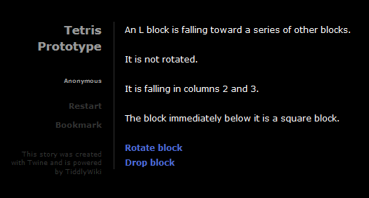 Tetris Twine prototype