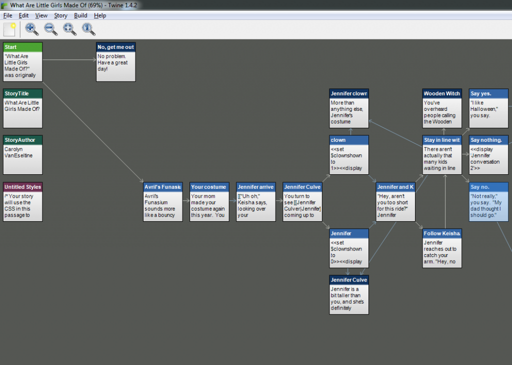 Twine interface 1