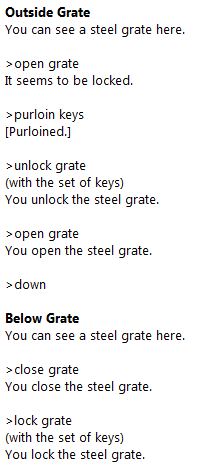 locking and unlocking the grate