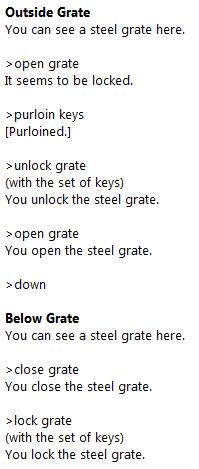locking and unlocking the grate